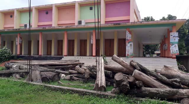 মণিরামপুরে জেলা পরিষদের অর্ধ কোটি টাকার কাঠের দিকে নজর নেই কর্তৃপক্ষের