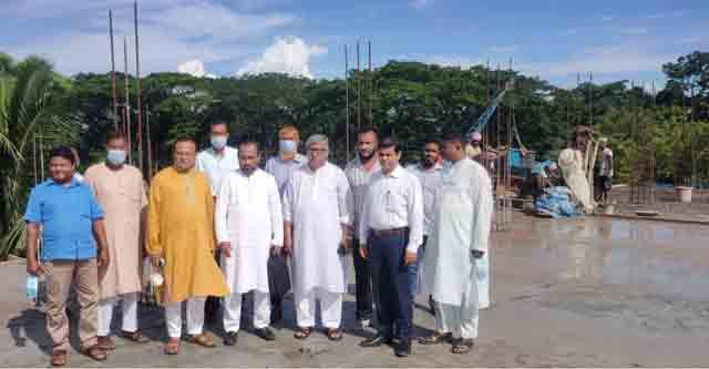 শামসুল হুদা একাডেমিক ভবন নির্মাণ কাজএমপি'র পরিদর্শন