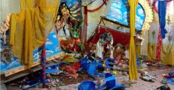 কুমিল্লার পর হাজীগঞ্জে বেশ কয়েকটি মন্দিরে হামলা:১৪৪ ধারা জারী